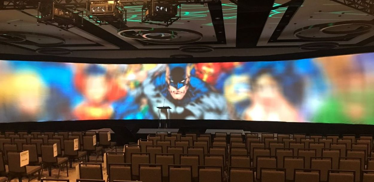 Big screen with image